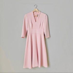 NWT {Vince Camuto} Pink V-Neck Fit & Flare Dress